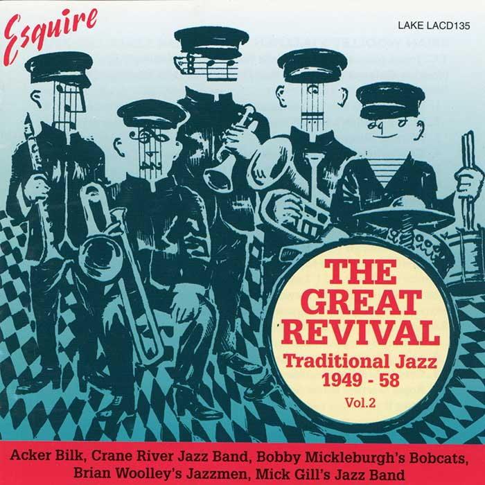 VARIOUS ARTISTS – THE GREAT REVIVAL – Traditional Jazz 1949-58.  Vol. 2